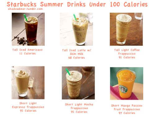 starbucks drinks under 100 calories for summer | Food in 2018 | Pinterest |  Drinks, 100 calories and Healthy Drinks