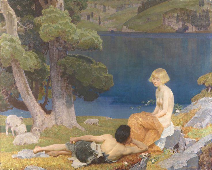 "radstudies:  ""Harold Speed (English, 1872-1957) - Daphnis et Chloé, 1924  """