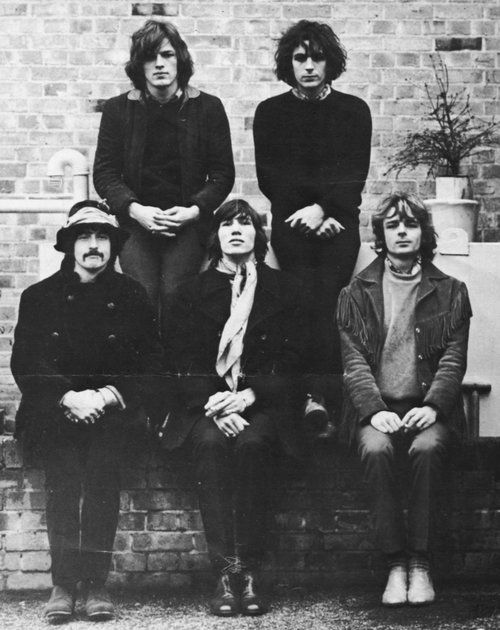 Pink Floyd. All 5 members: David Gilmour, Syd Barrett, Nick Mason, Roger Waters, and Rick Wright