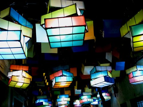 Rubik's Cube Lights - Zaragoza, Spain. Not video game, but still game and still awesome!