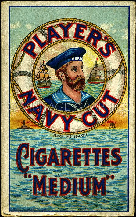 Players Navy Cut Cigarettes http://vintagegraphics.co.uk/catalog/product_info.php/cPath/26/products_id/152