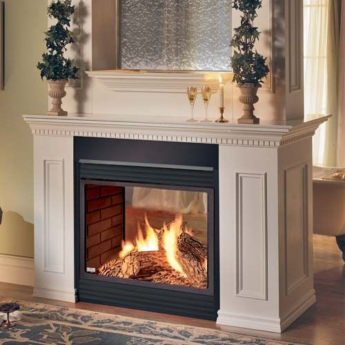 two sided fireplace | SALE! Napoleon 2-sided See-Through Gas Fireplace |  Living room | Pinterest | Fireplaces, See through fireplace and Wraps - Two Sided Fireplace SALE! Napoleon 2-sided See-Through Gas