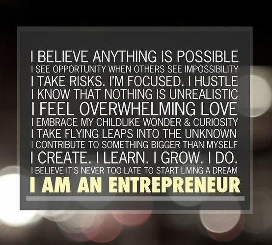 I Am an Enterpreneur and I will be successful. #business #entrepreneur