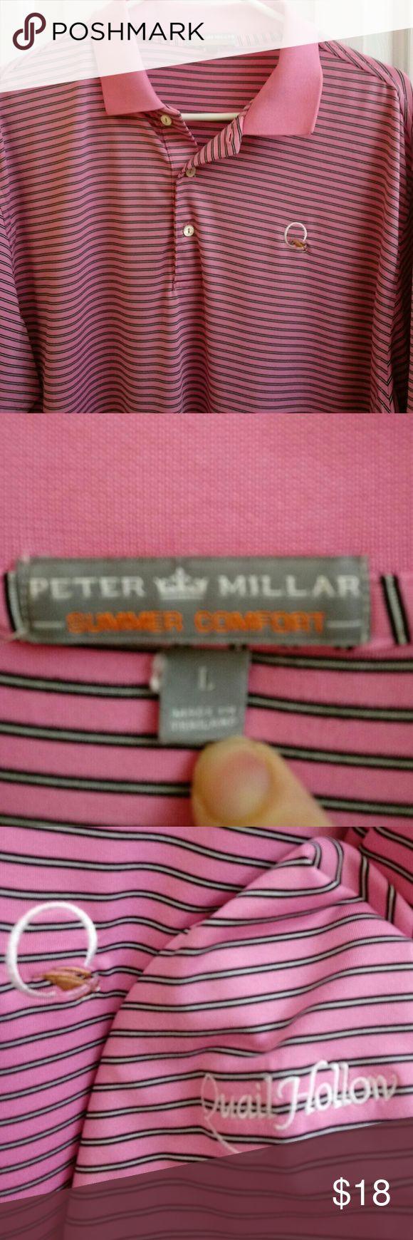 Peter Millar summer comfort men's polo SZ L Men's Peter