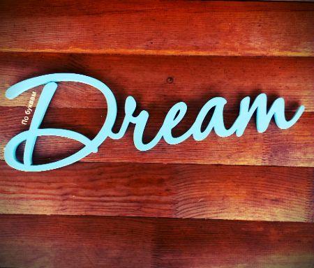 """Home decor / Необычный декор - голубенькое слово """"Dream"""", настоящим мечтателям! Впечатлени в подарок"""