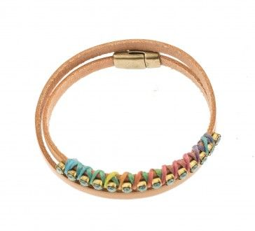Leather bracelet, by Art Wear Dimitriadis -Handmade-