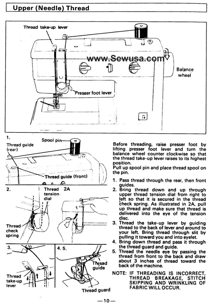 Brother Vx 1010 Vx 1020 Sewing Machine Threading Diagram
