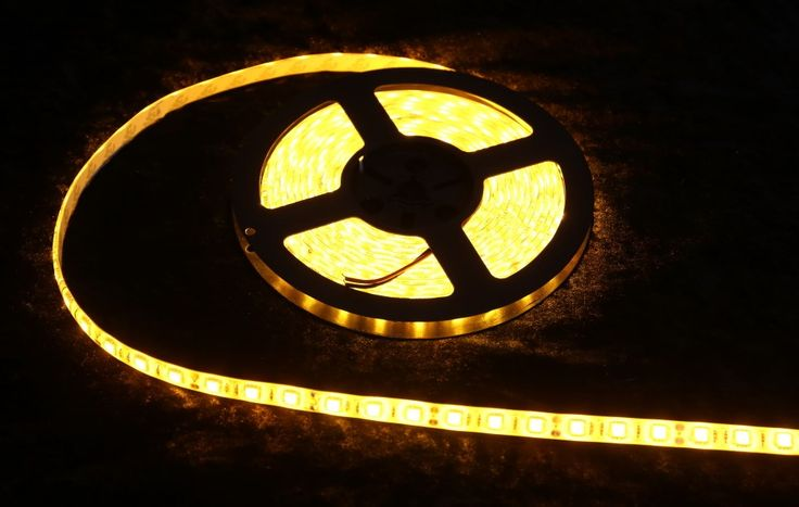 Strip Lighting LED Yellow SMD5050 IP65 5M Roll 14.4w/m 60 LEDs/m A$32.45 www.ecoindustrialsupplies.com