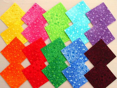 Scraps-5x5-10x10-cm-Patchwork-Stoffe-Ton-in-Ton-FUSIONS-von-Robert-Kaufman