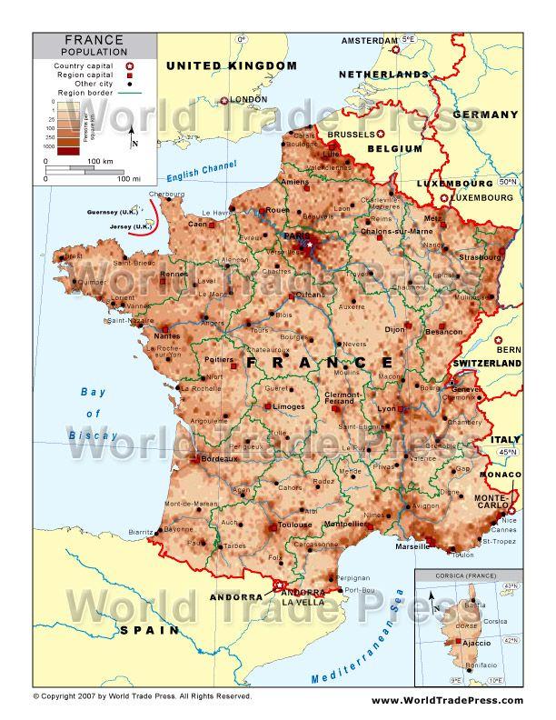 Population Density Map Of France Wallpaper | france | France map