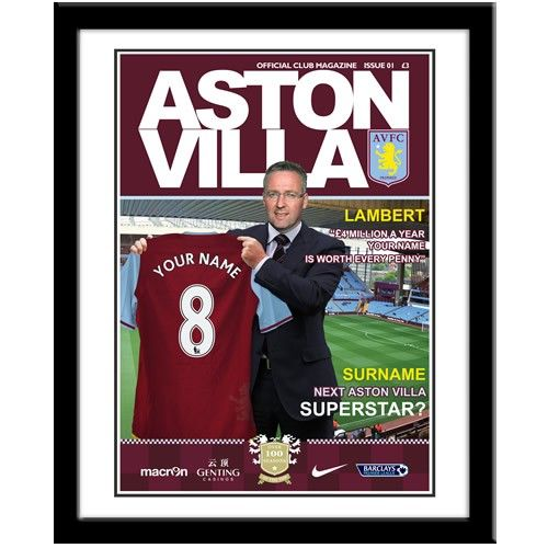 Personalised Aston Villa Magazine Front Cover  from Personalised Gifts Shop - ONLY £29.99
