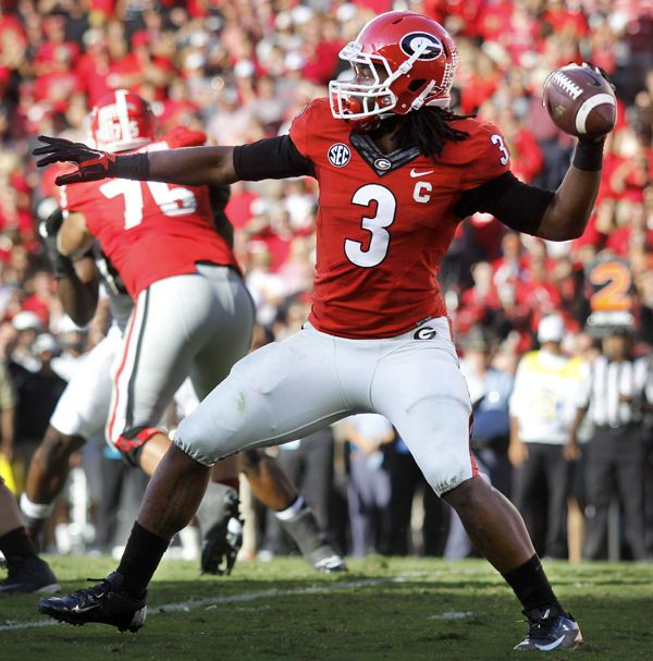"""On a in the second quarter, Georgia lined up in its """"WildDog"""" formation  with junior tailback Todd Gurley lined up in the shotgun and freshman wide  receiver ..."""