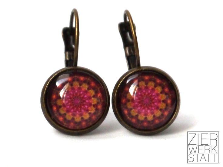 Ohrringe - 70er Jahre-Stil: Florale Brisuren, 12mm - ein Designerstück von Zierwerkstatt bei DaWanda