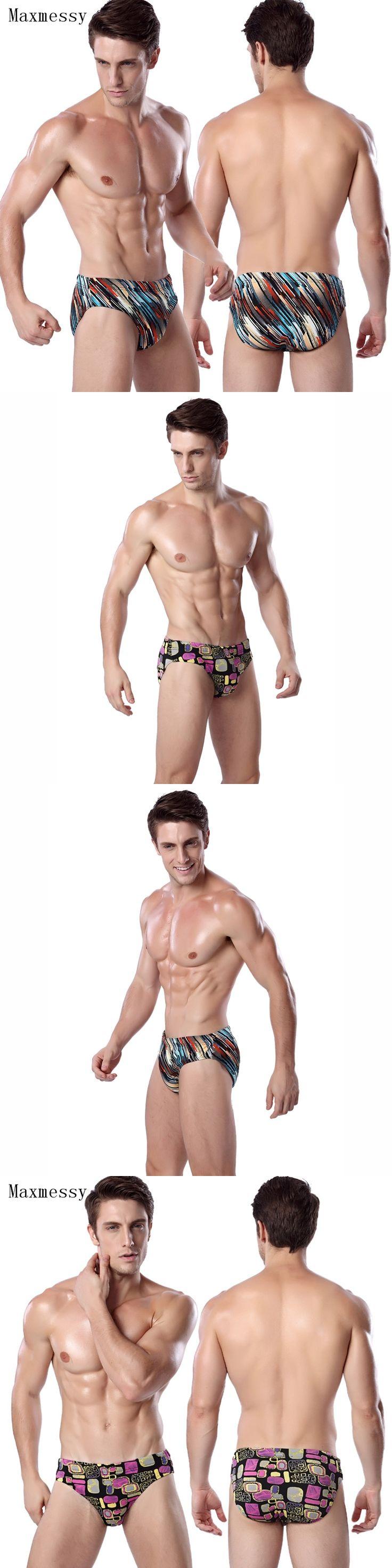 Maxmessy Men's Swimming Briefs Shorts Swimming Trunks Swimwear Swimsuit Water Repellent Man Swimwear Men Swim Suit Underpants