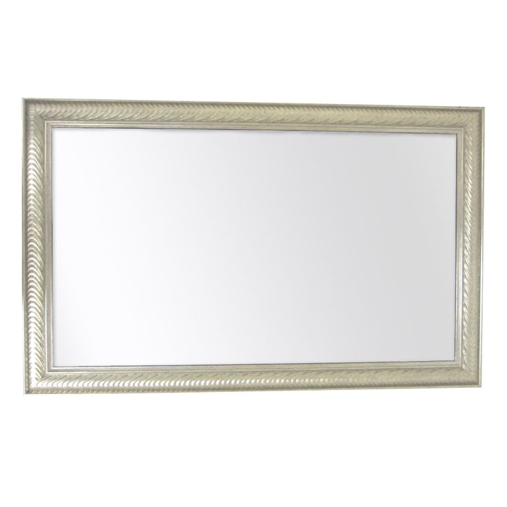 Wave Collection 26-Inch x 41-Inch Etched Silver 2.5-Inch Framed Wall Mirror | Overstock™ Shopping - Great Deals on Mirrors