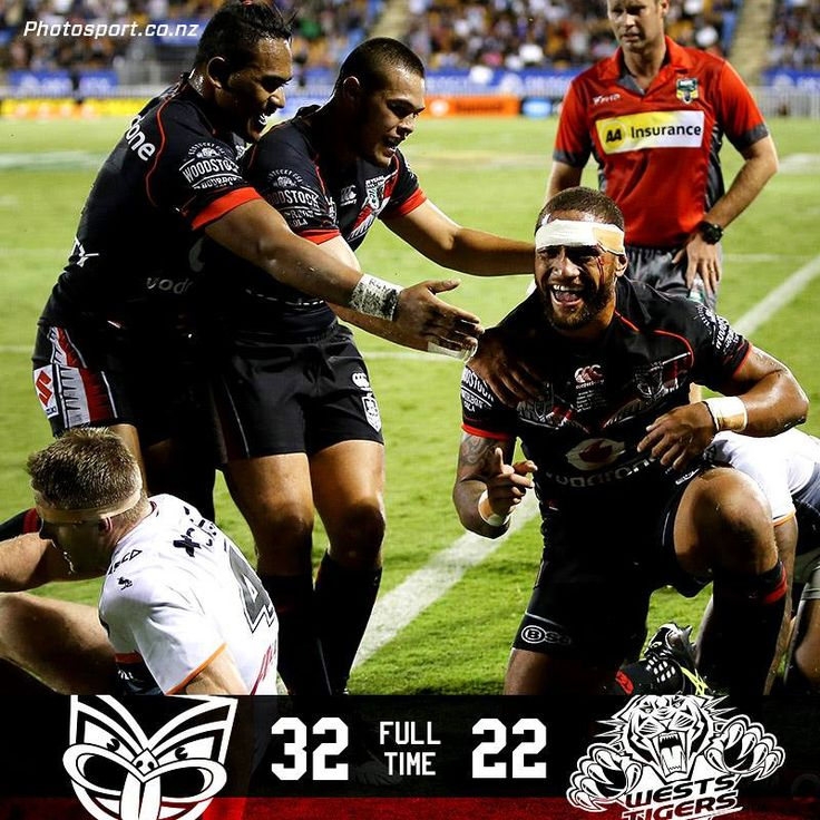 Feeding time over Fulltime. Vodafone Warriors 32 Wests Tigers 22 —