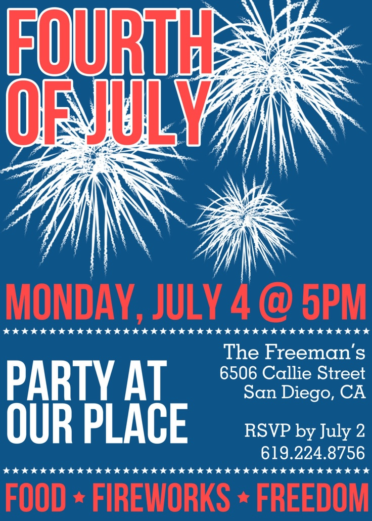 37 best 4th of July images on Pinterest | Bbq, Celebrations and Events