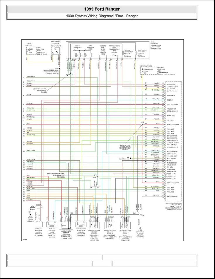 1999 Ford Ranger Fuse Diagram Electrical Fish Wire Web ...