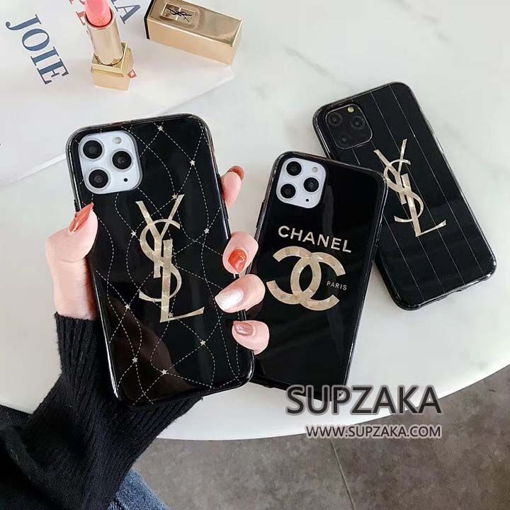 chanel iphone11 11 pro ケース ソフト イブサンローラン iphone11 pro max カバー メッキログ おしゃれ luxury iphone cases stylish iphone cases cool phone cases