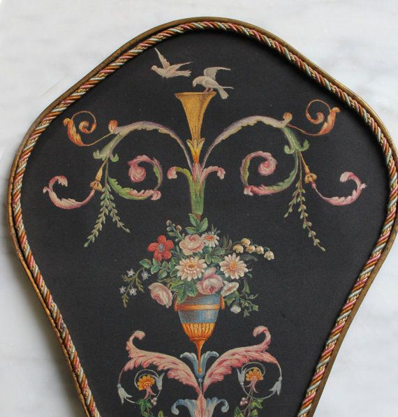 Antique French Hand Painted Fan Napolean III by moonscuriousitems, $285.00