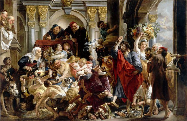 Jacob Jordaens - Jesus Driving the Merchants from the Temple [1645-50]