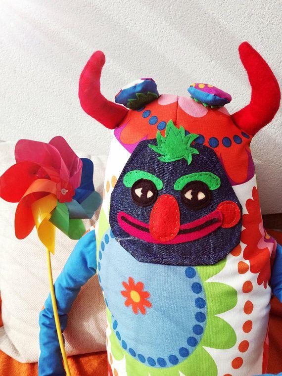 FUNNY DEVIL. Funny devil plushie. Weird stuffed animal. Large stuffed animal. Plush. Plushie. Funny spirit. Crazy monster.