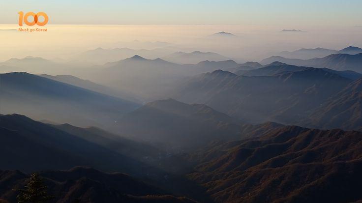 The sea of clouds we saw Jirisan Mountain. (지리산 운해)