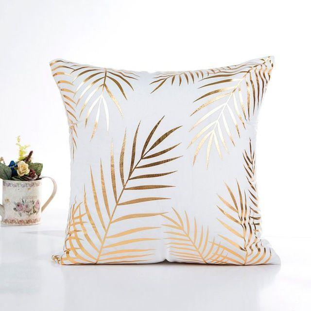 Square Letter Print Cushion Cover Polyester Throw Pillowcase Home Sofa Decor LO