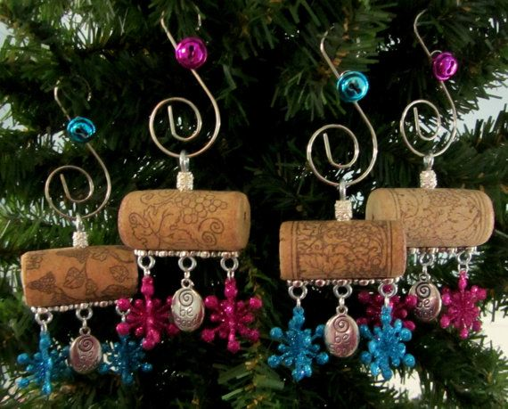 Be Good Wine Cork Christmas Ornament by PleasantPresents on Etsy, $23.00