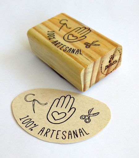 carimbo ❤ 100% artesanal