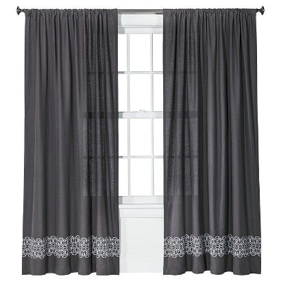 Curtains Ideas batik curtain panels : Nate Berkus™ Batik Curtain Panel - Gray (54x84