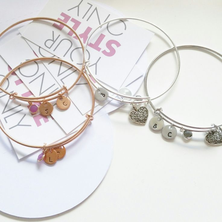 All time favorite; personalized bangle bracelets ♡ Made a lot last week #welovewhatwedo