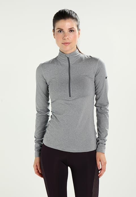 Nike Performance PRO WARM  - Treningsskjorter - dark grey heather/dark grey/black - Zalando.no
