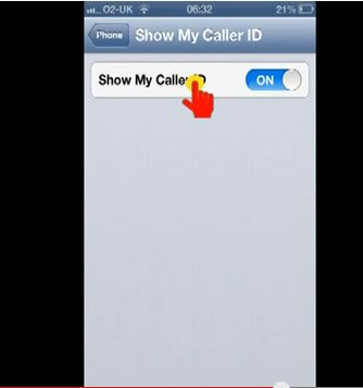how to turn on caller id on iphone 5