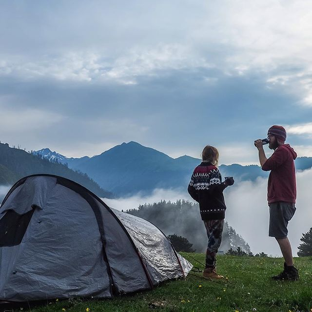 We are sooo so good in lazy mornings. Hello!  #morning #georgia #gruzja #omalo #mountains #mountainlife #freedom #coffee #coffeetime #trip #roadtrip #collectivelycreate #ComeBackNew #liveadventurously #livesimply #lifeisgood @blueiceberg.pl @wilderness_culture @ourcamplife