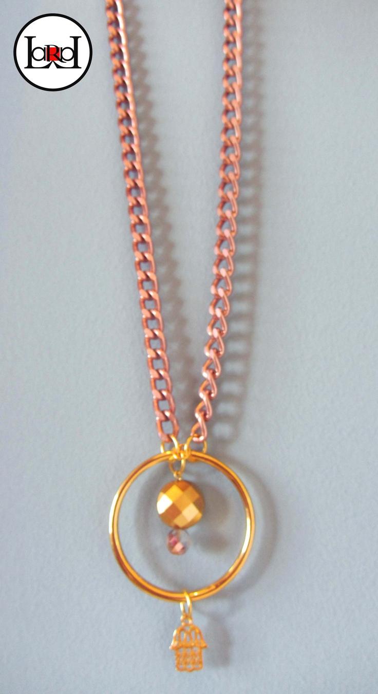 LARA ART Pink gold necklace