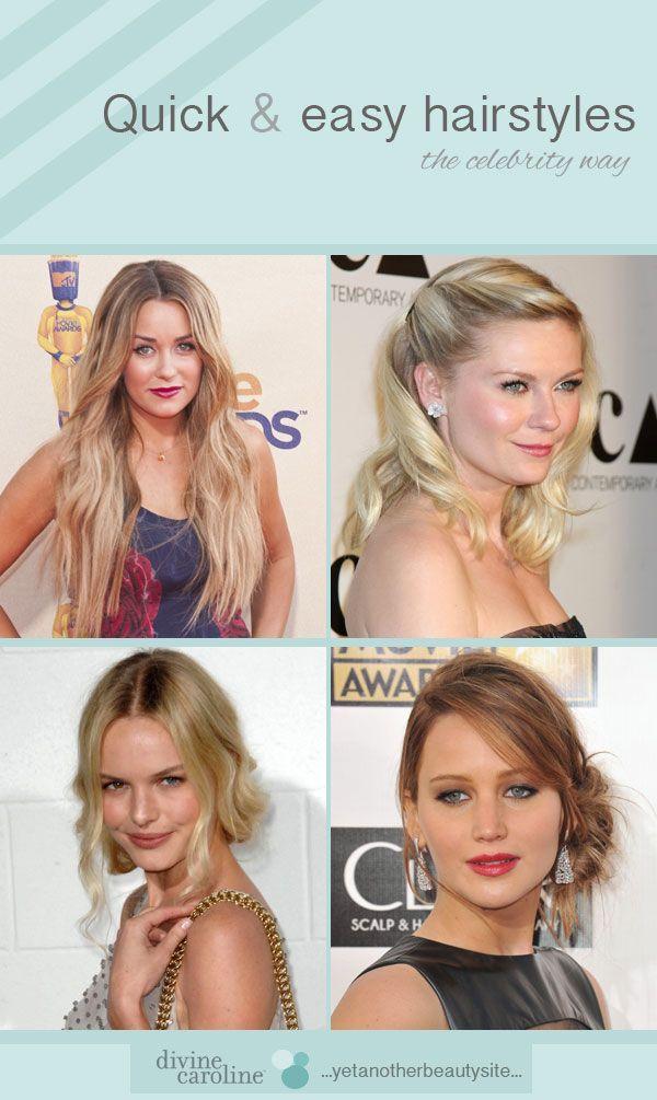 Coiffures de célébrités rapides et faciles - #cébrité #hairstyles #quick - #new