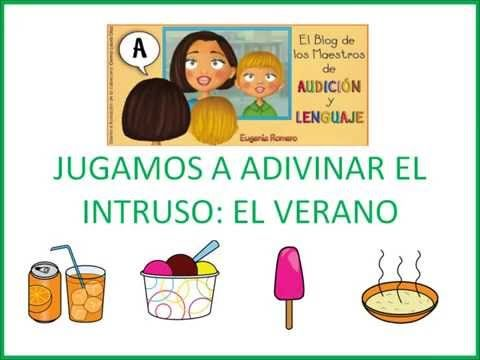 Jugamos a adivinar el intruso: El verano Blog Maestros de Audición y Lenguaje Eugenia Romero