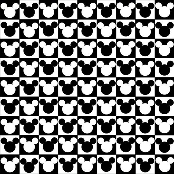 cabecitas en blanco y negro de mickey mouse