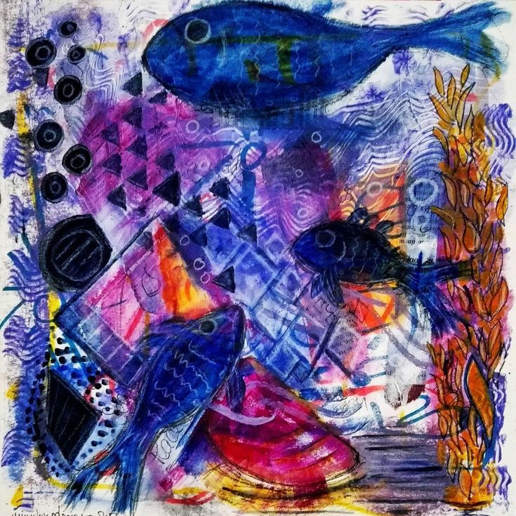 Buy The Three Blue Fish, Mixed Media painting by mimulux patricia no on Artfinder. Discover thousands of other original paintings, prints, sculptures and photography from independent artists.
