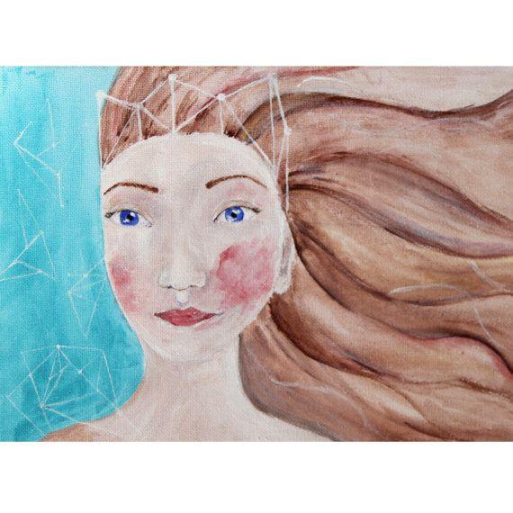 Art print Girl's portrait Warrior Princess by NataliesWunderland