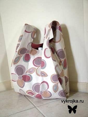 Выкройка сумки-пакета
