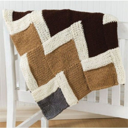 Easy Knitting Ideas Pinterest : Free easy zigzag afghan knit pattern loom knitting