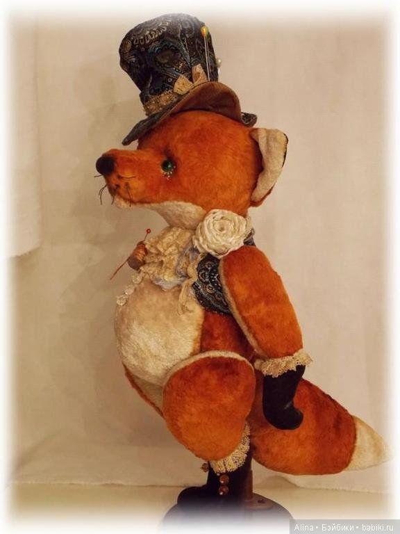 Хитрый лис от Макаровой Виктории / 151 Бесплатная выкройка игрушек [Тедди мишки, зайки, слоники и другие] / Бэйбики. Куклы фото. Одежда для кукол