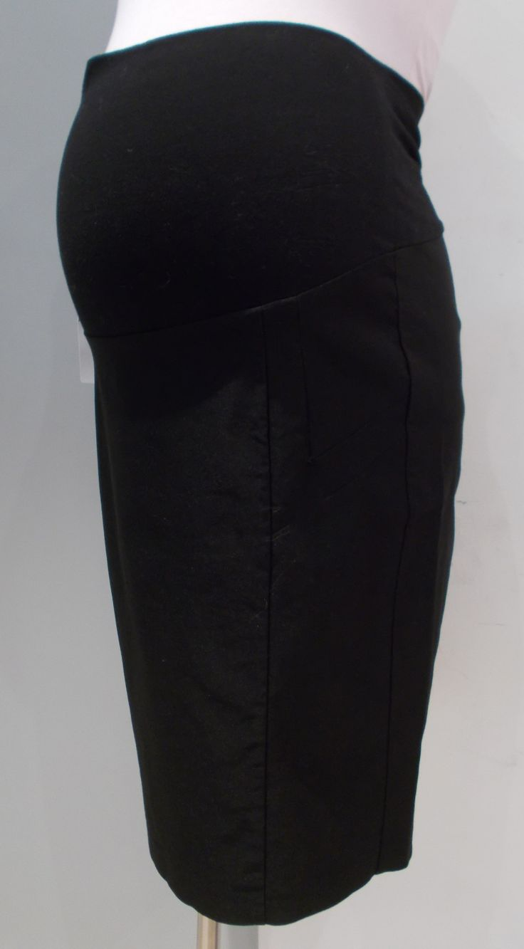 Thyme Maternity - Pencil Ponte Skirt with Back Slit