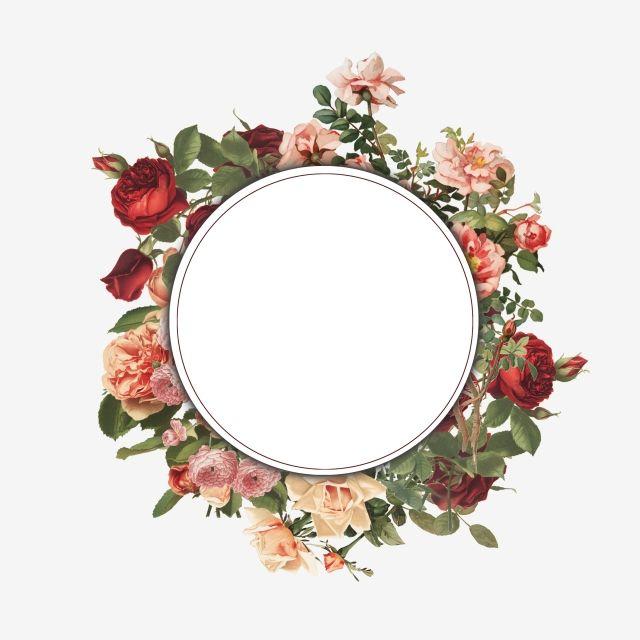 Hand Painted Vintage Floral Frame Frame Vintage Floral Floral Png Transparent Clipart Image And Psd File For Free Download Flower Background Wallpaper Floral Painting Floral