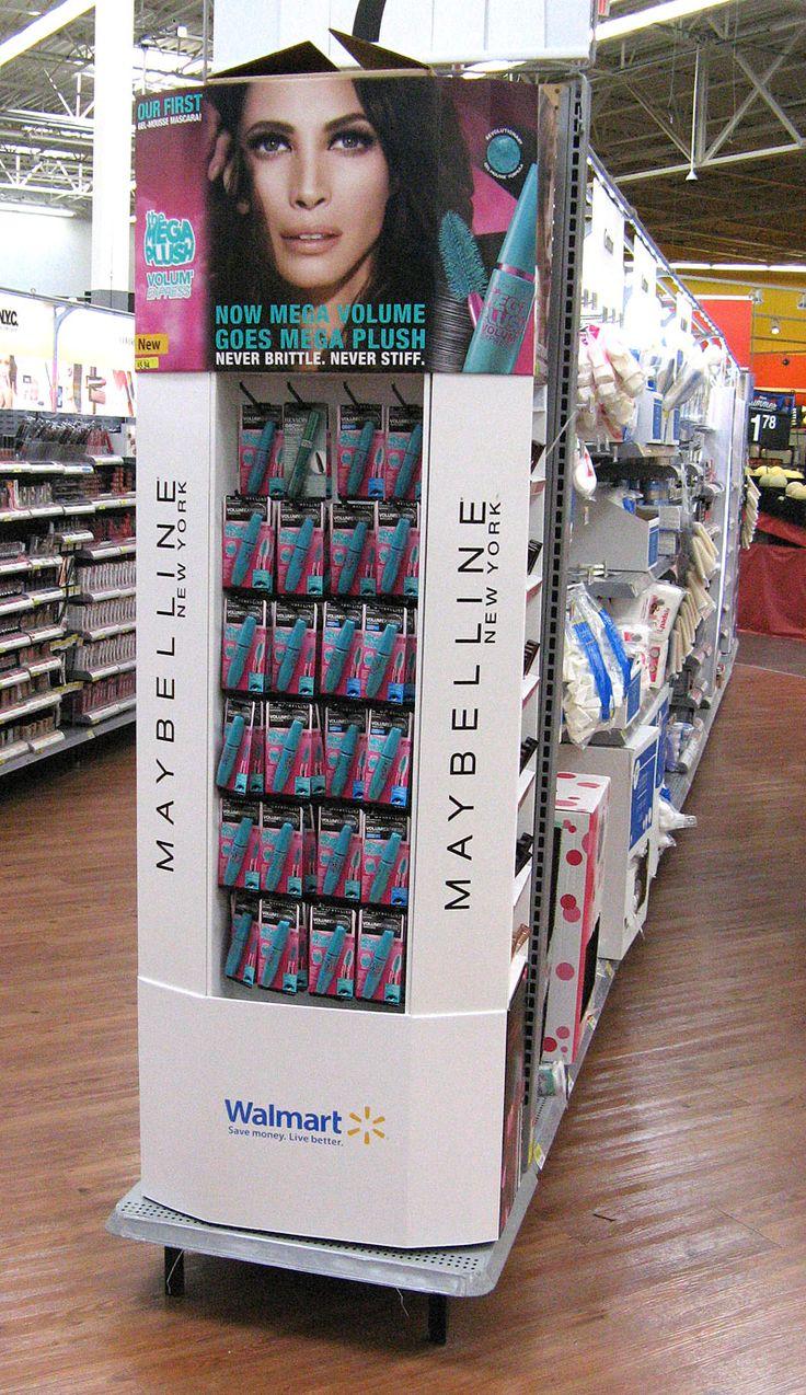 Maybelline Walmart Mega Plush End Cap Walmart Point Of