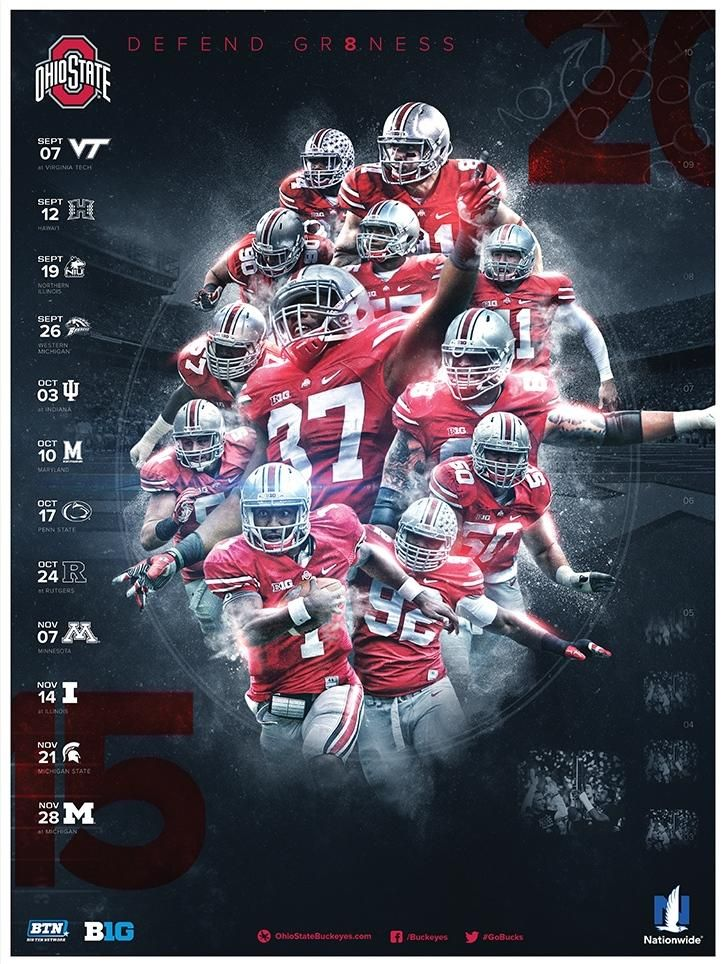 The @OhioStAthletics @OhioStFootball poster is SPECTACULAR! RETWEET this if you agree! #GoBucks (h/t @Brutus_Buckeye)