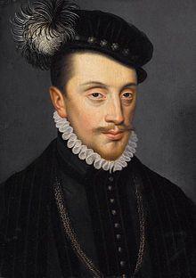 Charles III de Lorraine, François Clouet- Charles III de Lorraine ( 1543- 11608)  duc de Lorraine et de Bar, était fils du duc François I° et de Christine de Danemark. Placé ensuite sous la tutelle du roi Henri II de France, il fut élevé à la cour des Valois et épousa à l'âge de 16 ans, la princesse royale Claude de France. Il fut un acteur important des guerres de Religion du parti Catholique. A la mort d'Henri III de Valois en 1589, il brigua la couronne d France pour son fils Henri.