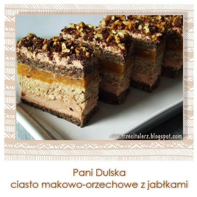 Trzeci talerz: Pani Dulska – ciasto makowo-orzechowe z jabłkami